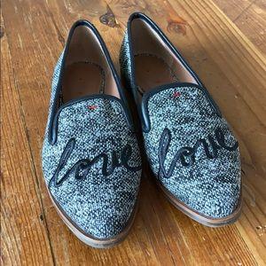 Ellen Degeneres Black/White 'love' Kamada Loafer